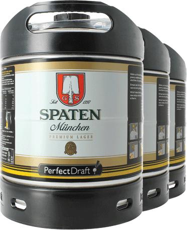 Spaten Münchner Hell PerfectDraft Barril - 3-Pack