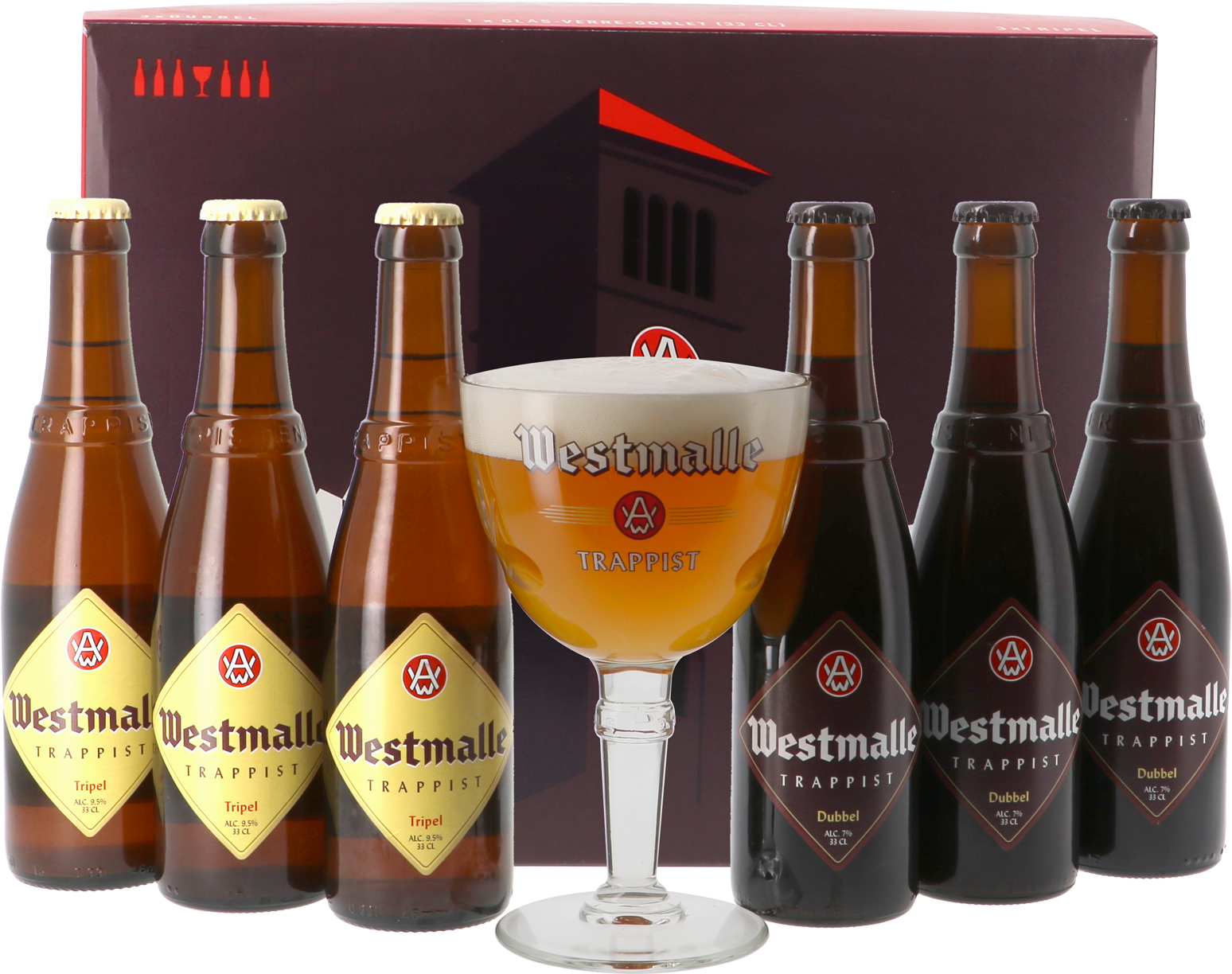 Abbaye de Westmalle Trappist Gift Pack - 6 Beers + 1 Glass