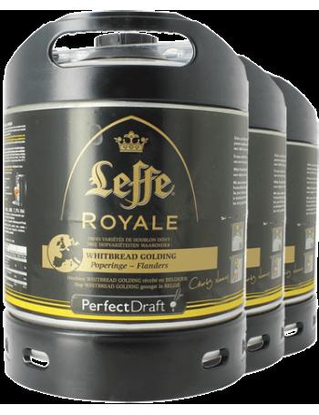 Pack 3 fûts 6L Leffe Royale