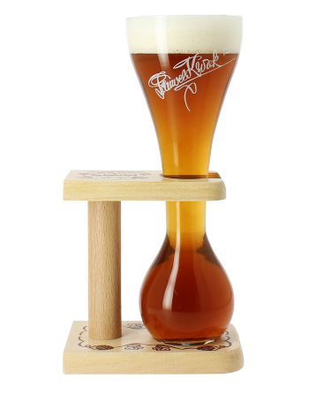 Kwak glass with wooden base