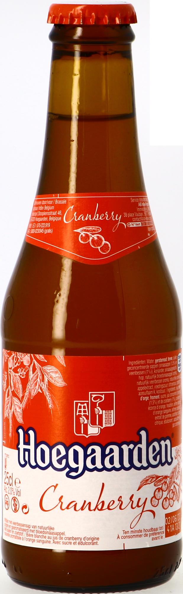 Hoegaarden Radler Arándanos y naranja sanguina – 25 cl