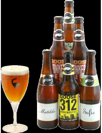 Assortiment Goose Island - 6 bières - 1 verre