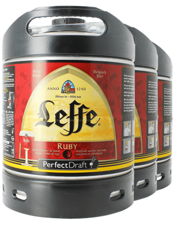 Pack 3 fûts 6L Leffe Ruby