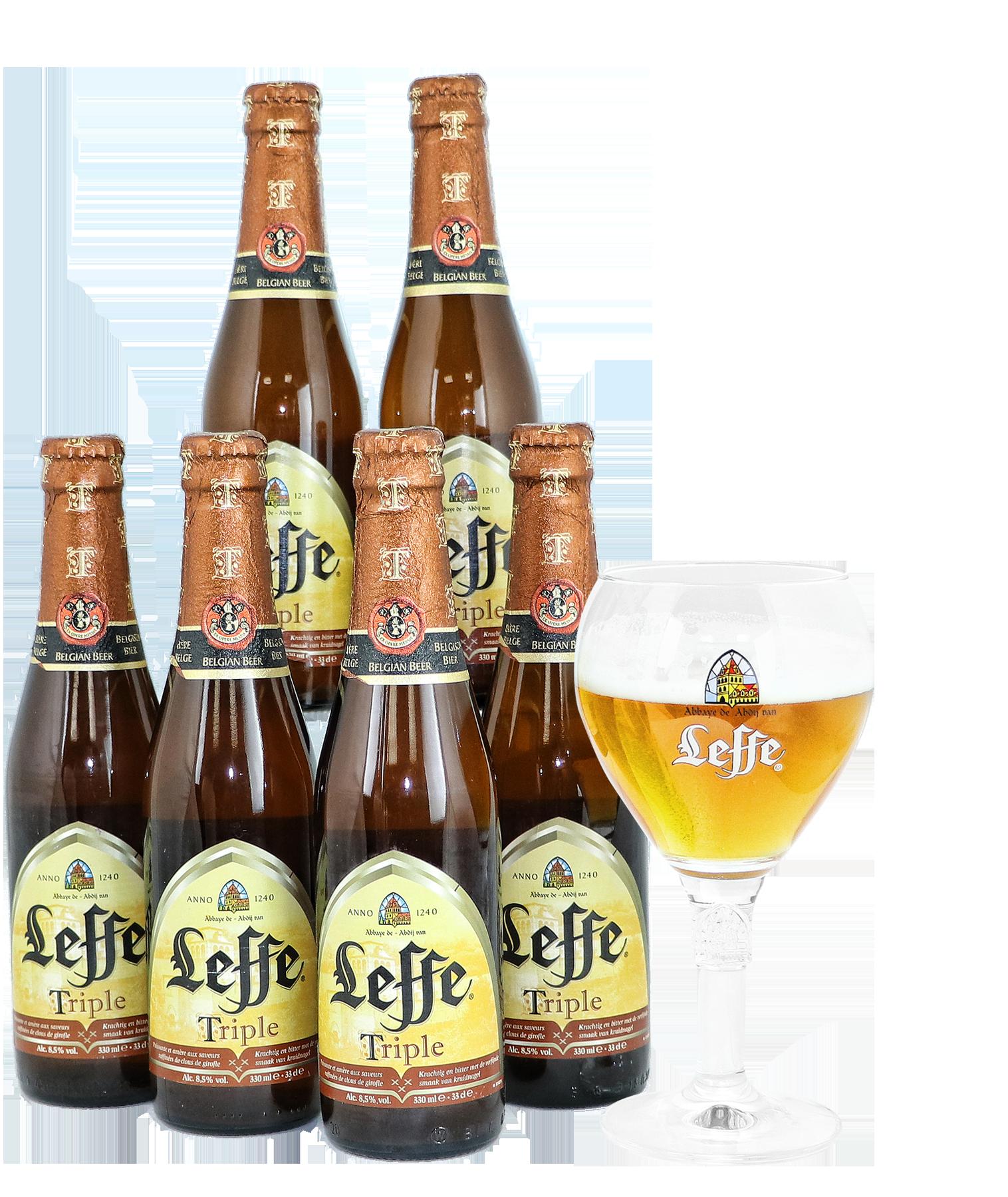 Pack 6 Leffe Triple y 1 copa oficial