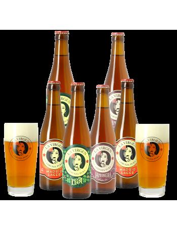 Pack La Virgen 6 bières et 2 verres