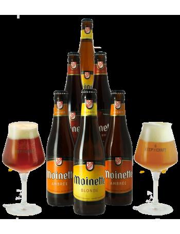 Pack Moinette 6 bières et 2 verres