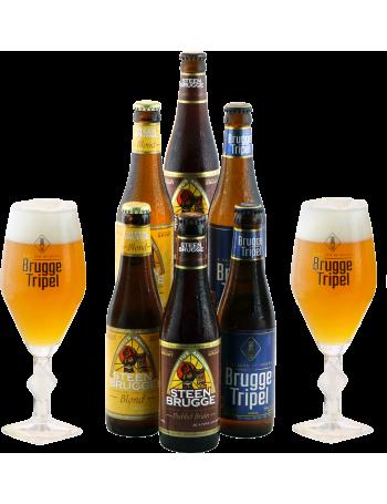 Pack Brugge 6 bières et 2 verres