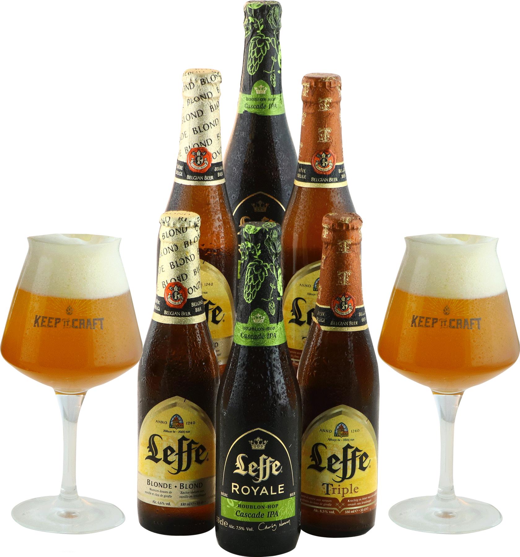 Leffe Pack - 6 cervezas y 2 vasos