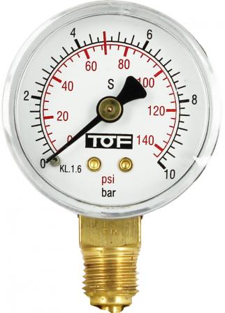 Manomètre de 0 à 10 bar pour détendeur