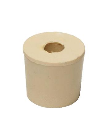Bouchon n°5 en caoutchouc percé diamètre interne 23 mm - externe 26 mm