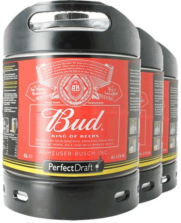 Budweiser Bud PerfectDraft 6-litro Barril - 3-Pack