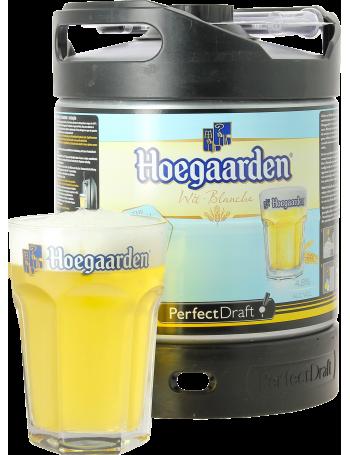 Fût 6L Hoegaarden + 1 verre de 33 cl