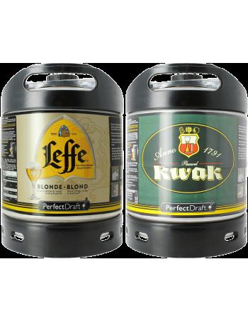 Pack 2 fûts 6L : Leffe Blonde/Kwak