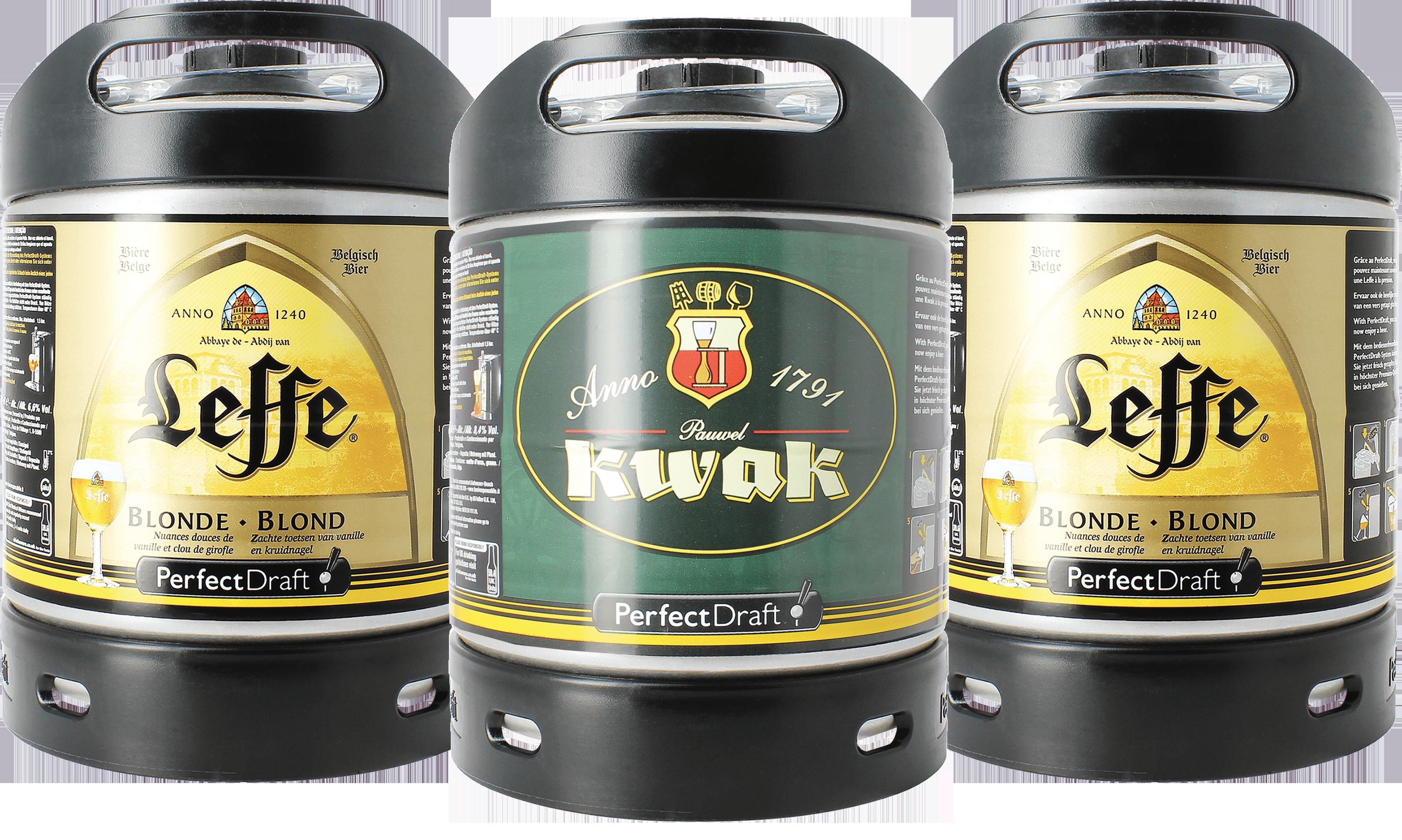 Leffe Blonde & Kwak PerfectDraft 6-litro Barril - 2-Pack