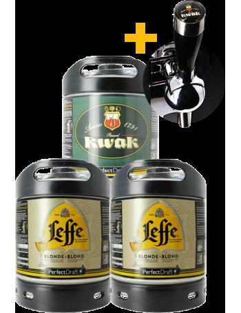 Leffe Blonde & Kwak PerfectDraft Keg - 3-Pack