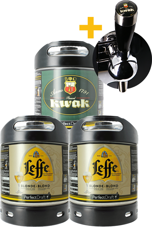 Leffe Blonde & Kwak PerfectDraft 6-litro Barril - 2-Pack