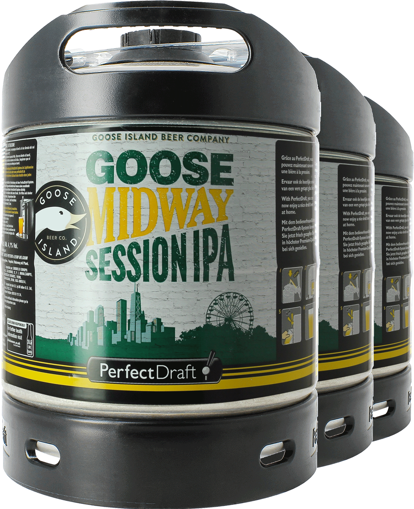 Goose Midway Session IPA PerfectDraft 6-litre Barril - 3-Pack