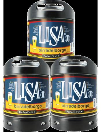 Pack 3 fûts 6L Birra Del Borgo LISA
