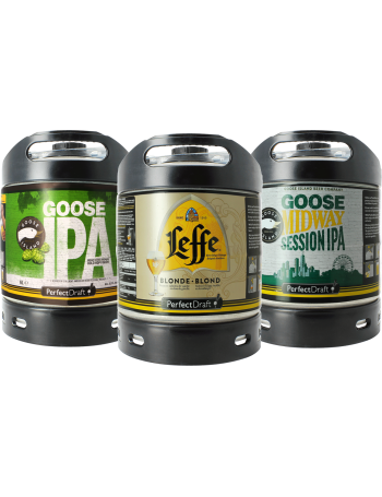 Assortiment 3 fûts 6L Goose Island IPA - Goose Midway - Leffe Blonde