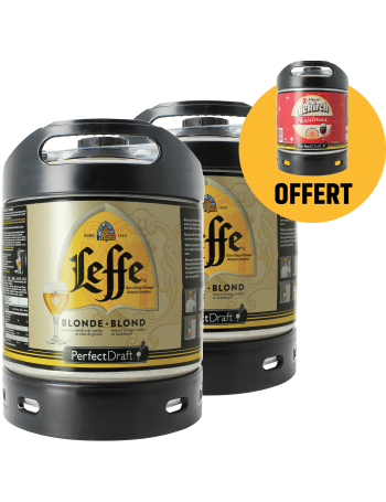 Assortiment 3 fûts 6L : 2 Leffe Blonde - 1 Diekirch de Noël