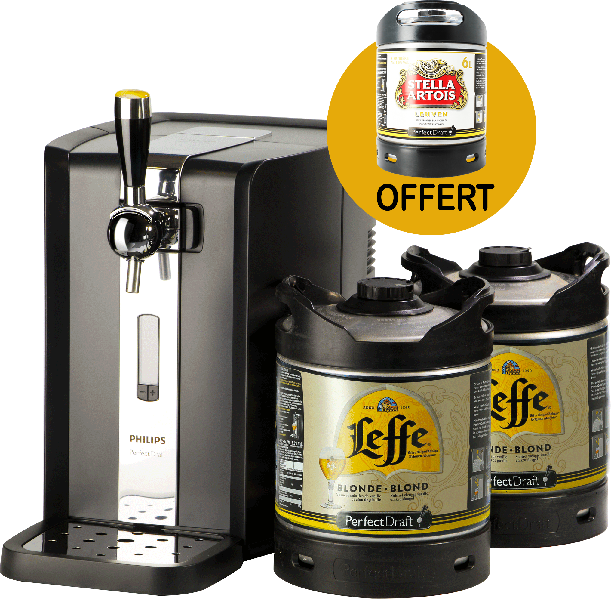 Party Pack PerfectDraft 2 Leffe + 1 Stella Free