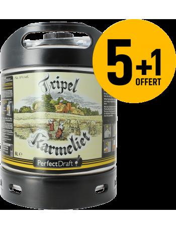 Pack 5 fûts 6L de Tripel Karmeliet + 1 Offert