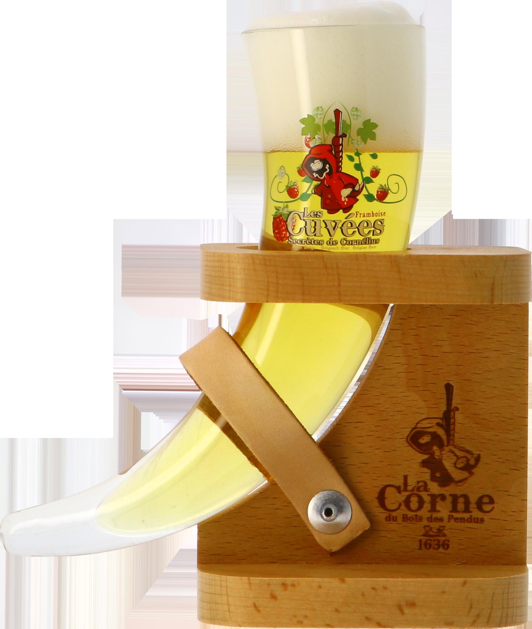 Verre La Corne du Bois des Pendus Dégustation + pied bois - 15cl