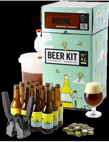 Beer Kit Débutant, je brasse et j'embouteille une bière Brune