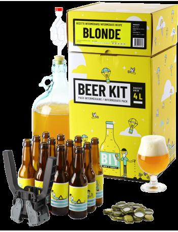 Beer Kit Intermédiaire, je brasse et j'embouteille une bière Blonde