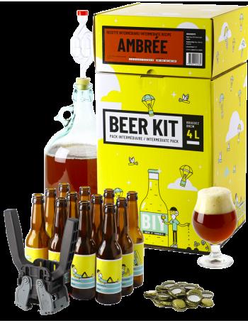 Beer Kit Intermédiaire, je brasse et j'embouteille une bière Ambrée