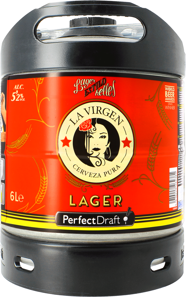 Barril La Virgen Lager PerfectDraft 6 L