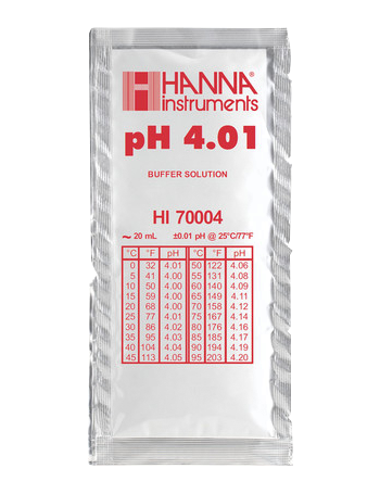 Solution tampon pH 4,01 - sachet de 20 mL