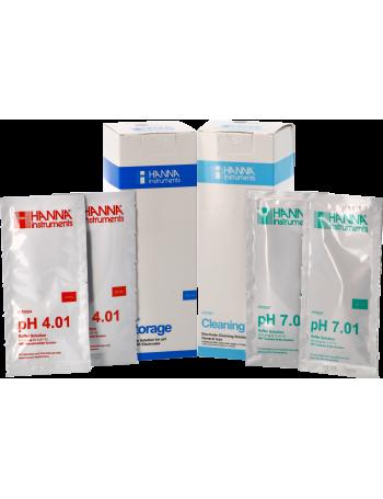 Kit d'entretion et de solutions tampons pH mètre