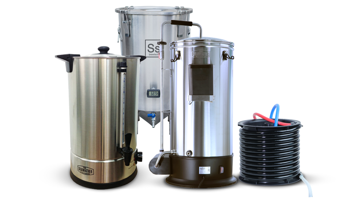 Pack Grainfather Connect + Sparge Water +  Brew Bucket 7 Gallons SS Brewtech