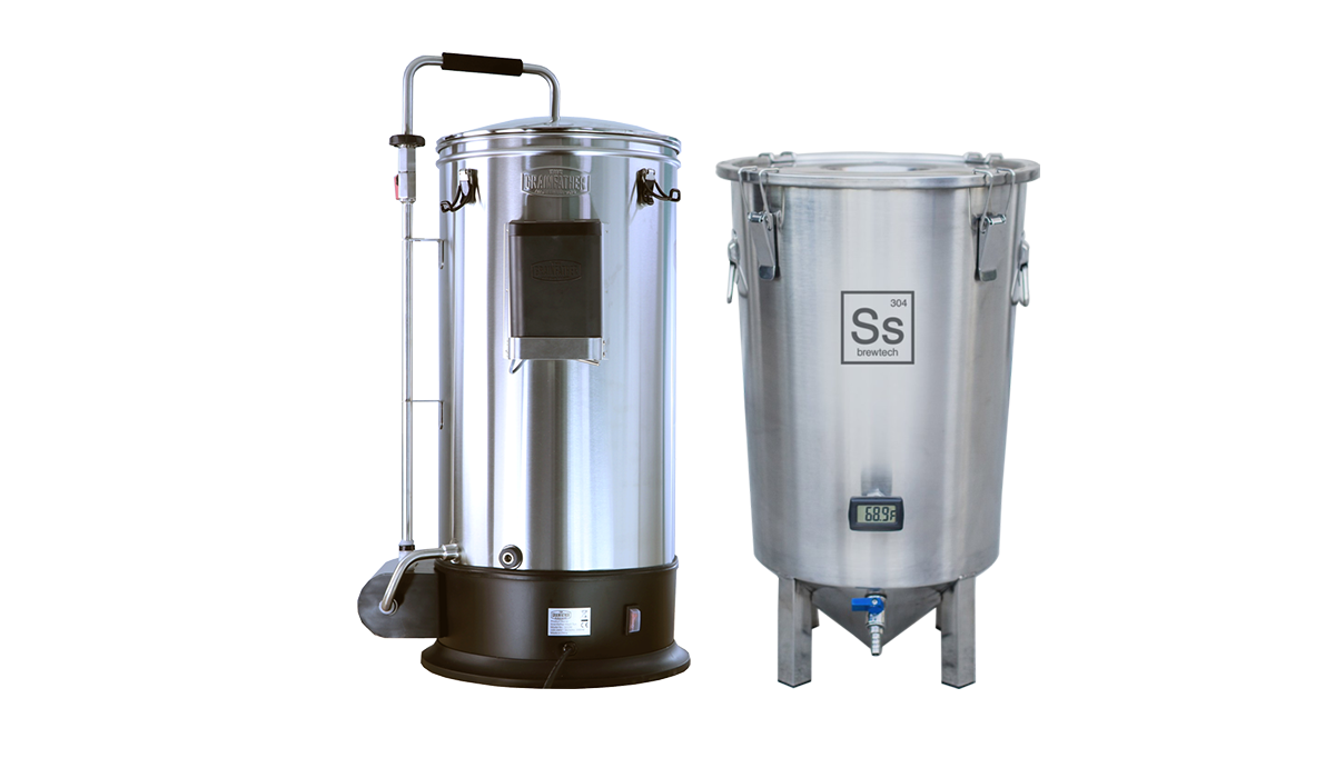 Pack Duo Brassage & Fermentation - Grainfather Connect + Cuve de fermentation Brew Bucket BME 7 Gal. Ss Brewtech