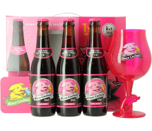 Rince Cochon Red Gift Pack (3 bottles + 1 glass)