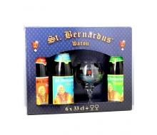 Coffret Saint Bernardus (6 bouteilles + 2 verres 33cl)