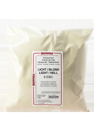 Extrait de malt poudre blond 1kg 8 EBC