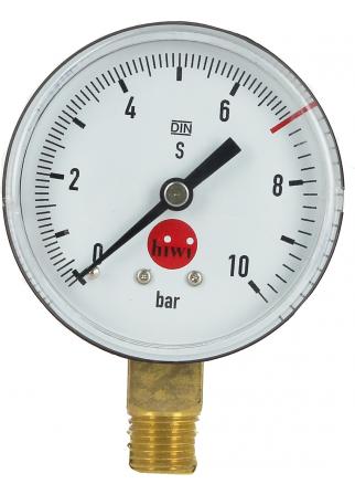Manomètre 0 à 10 bar taré à 7 pour détendeur