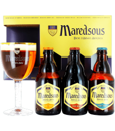 Maredsous Gift Pack (3 beers + 1 glass)