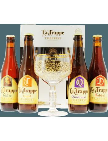 Coffret La Trappe (4 bières 1 verre)