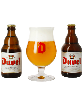 coffret duvel 2 bi res belges verre duvel brasserie brouwerij moortgat cadeau belgique. Black Bedroom Furniture Sets. Home Design Ideas