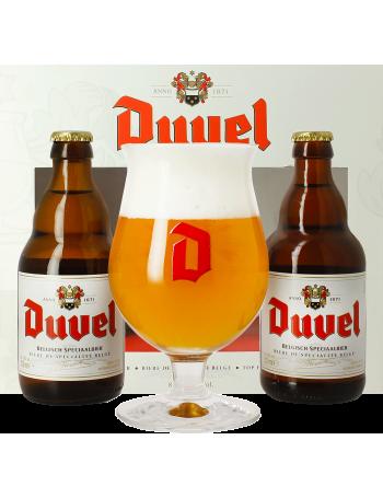 Coffret Duvel (2 bouteilles 33cL + 1 verre)