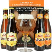 Coffret Bush (4 bières 1 verre)