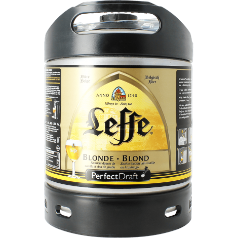 f t 6l de bi re leffe blonde perfectdraft. Black Bedroom Furniture Sets. Home Design Ideas