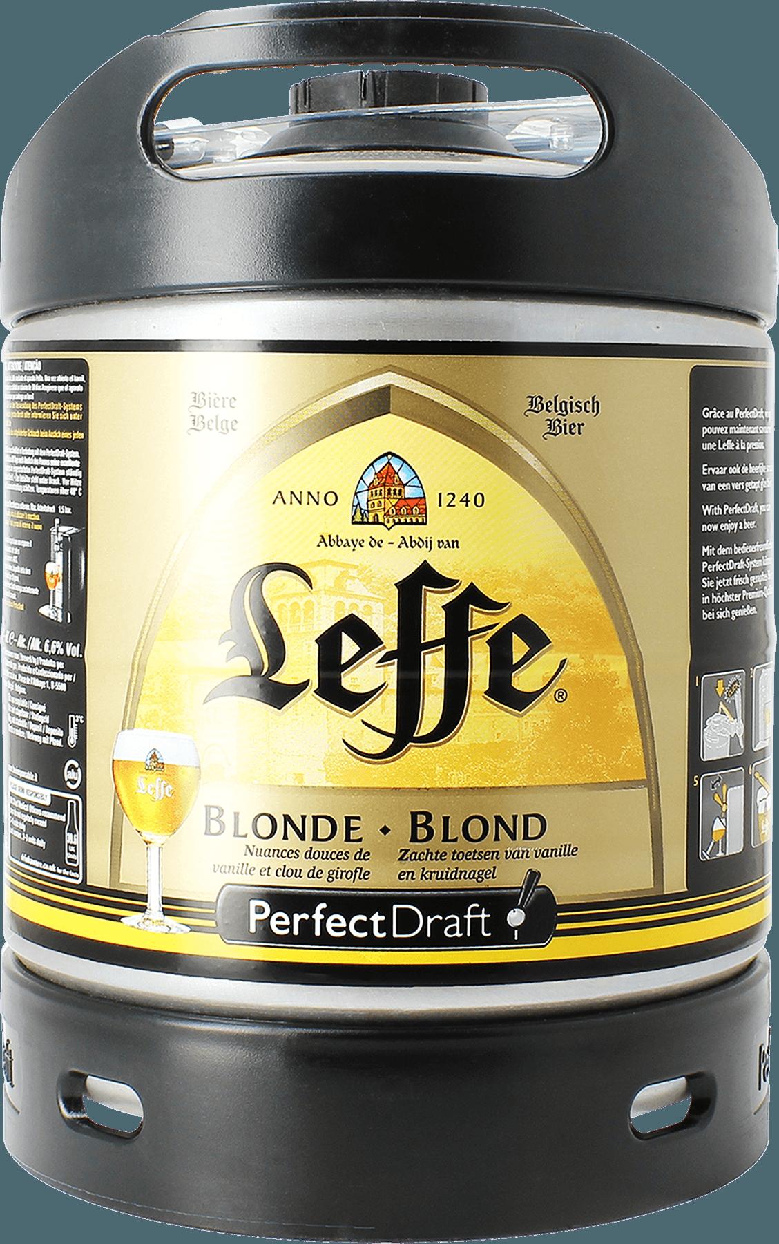 Barril Leffe Blonde PerfectDraft 6 L