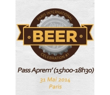 Ticket aprem' 31/05 Paris International Beer Celebration