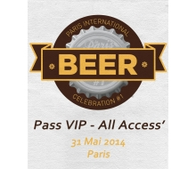 Ticket VIP All Access Paris International Beer Celebration