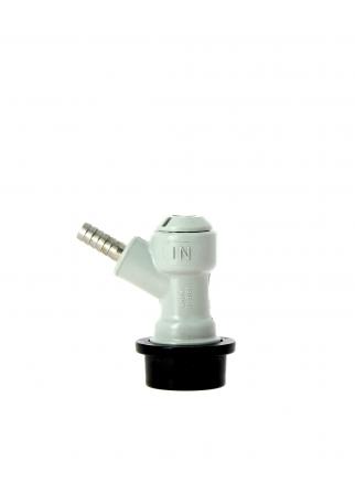 Tête de soutirage gaz Soda Keg, sortie cannelée 7 mm