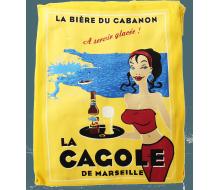Tablier long jaune La Cagole